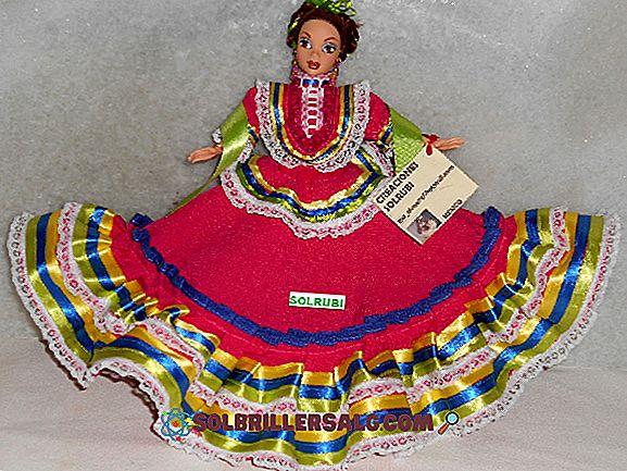 Typisk kostyme av Colima: Hovedegenskaper