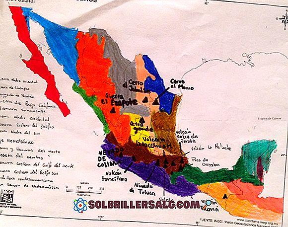 ما نوع الإغاثة السائدة في المكسيك؟